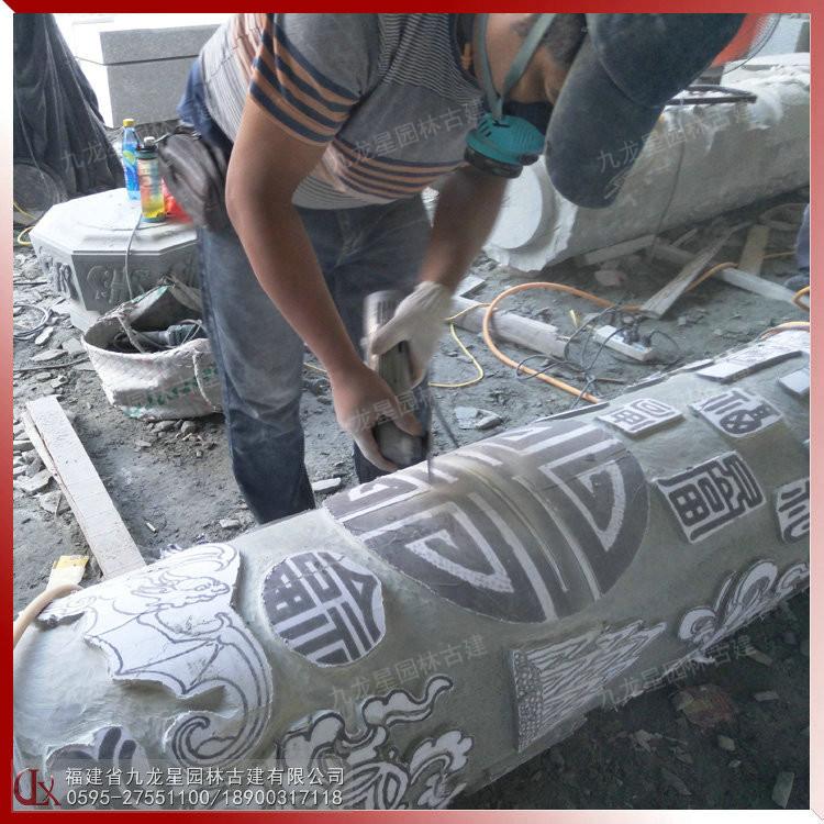 石雕圓柱文化柱加工 福建生產圓柱石材廠家