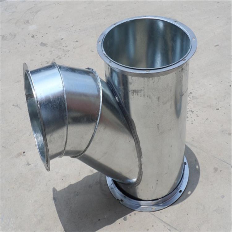鍍鋅法蘭風管加工廠 肇慶通暢螺旋風管生產制作廠家