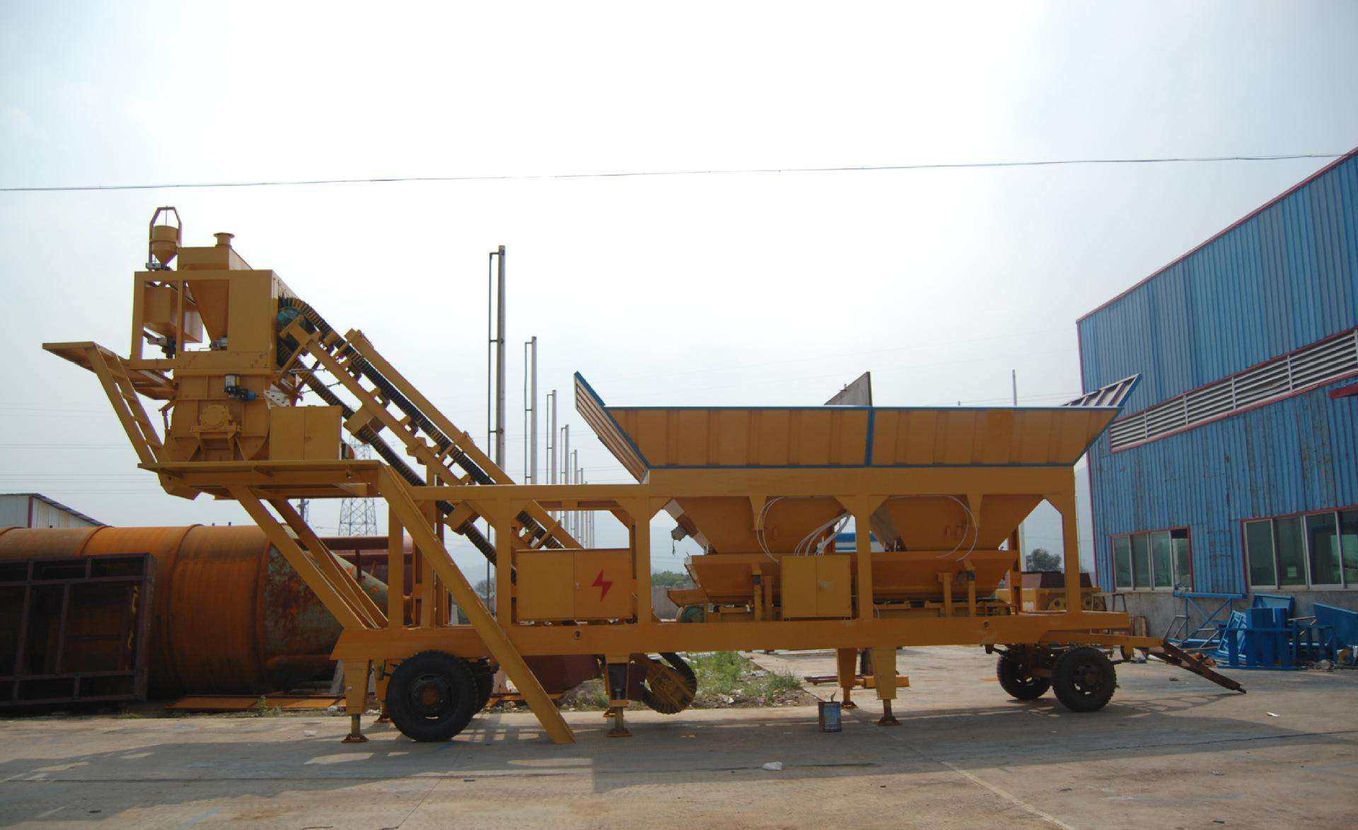 销售移动混凝土搅拌站YHZS25整套建筑机械厂家直销
