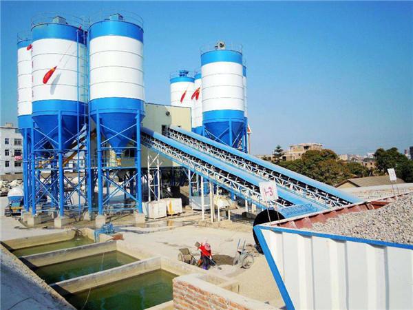 全新混凝土搅拌站设备HZS90中小型搅拌机械出料稳定价格实惠