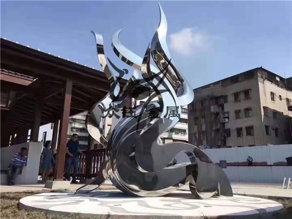 厂家定制不锈钢大型抽象雕塑城市校园户外园林景观