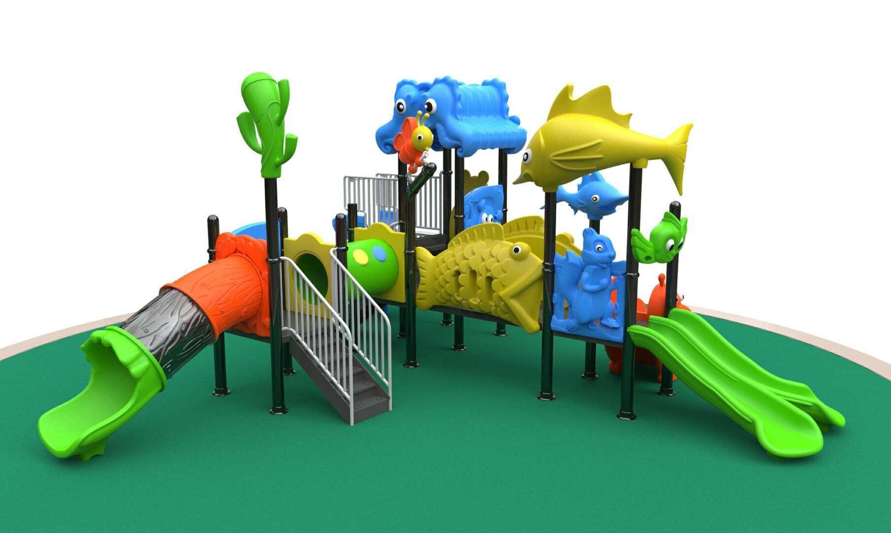 广西桂林儿童工程塑料滑梯游艺设施