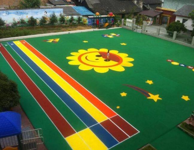 南寧彩色球場鋪設-學校球場鋪設丙烯酸地坪專業施工