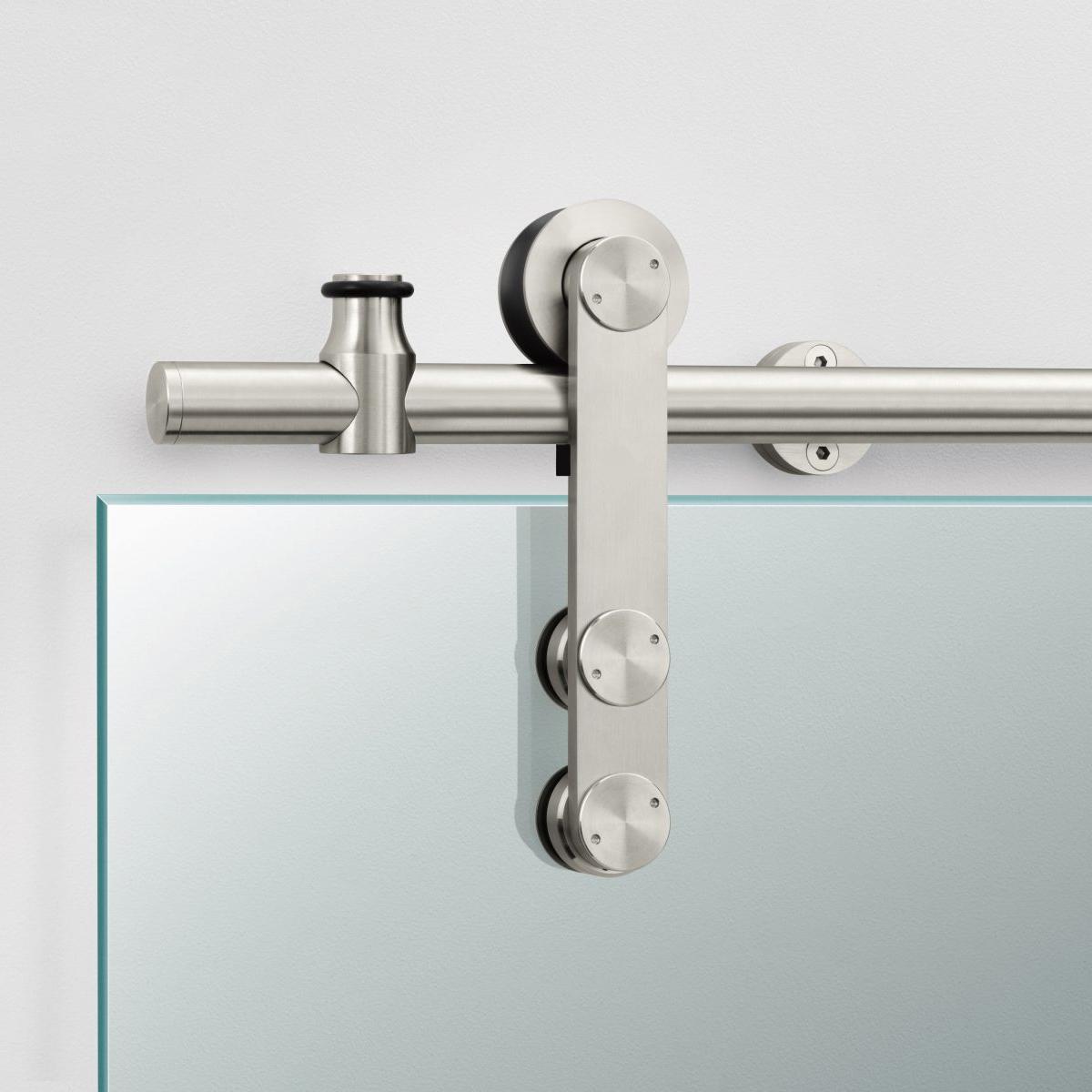 德國工藝不銹鋼滑輪寫字樓玻璃滑門吊輪02A帶防脫不銹鋼滑輪