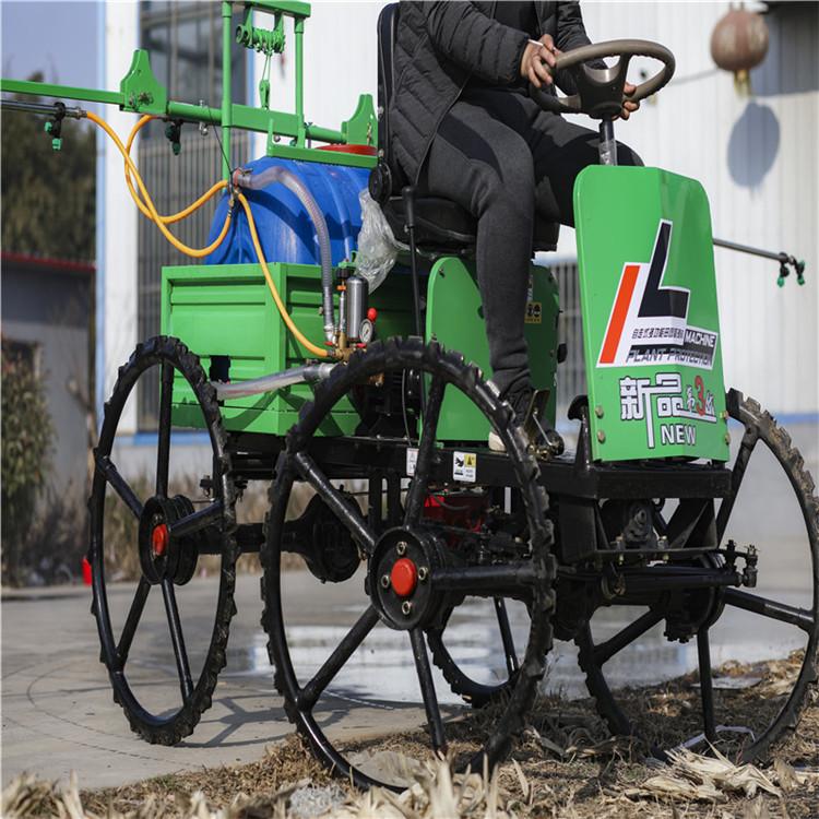 農用麥田打藥機 四輪自走式打藥機 折疊噴桿打藥機廠家價格