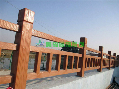 水泥仿木欄桿定做 公園園林景觀中使用仿木欄桿材料