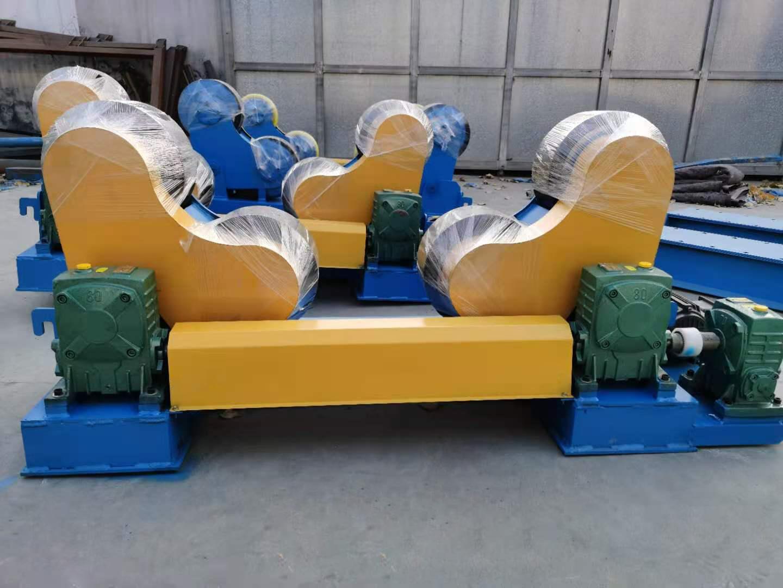 山东10吨焊接滚轮架 蜗轮蜗杆滚轮架