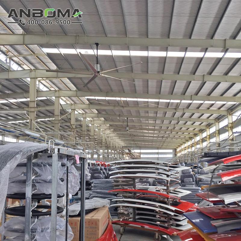南京節能工業大吊扇  徐州大型工業風扇廠家  工廠車間倉儲物流降溫除濕