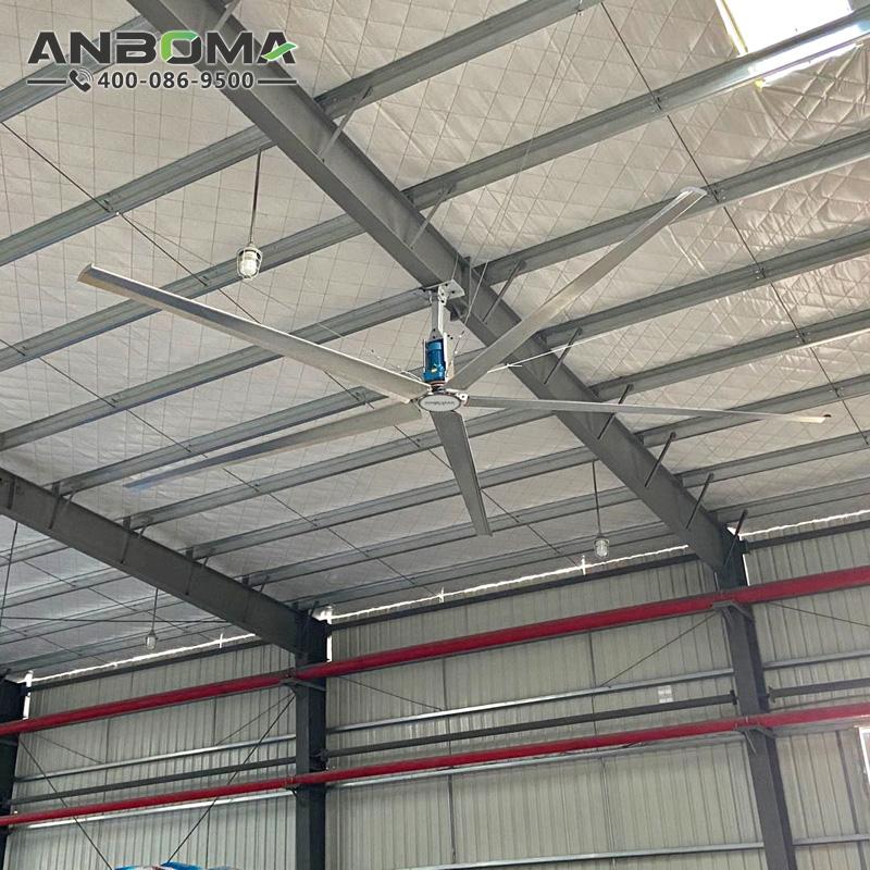 常州節能工業大吊扇 南通大型工業風扇廠家 工廠車間倉儲物流降溫除濕