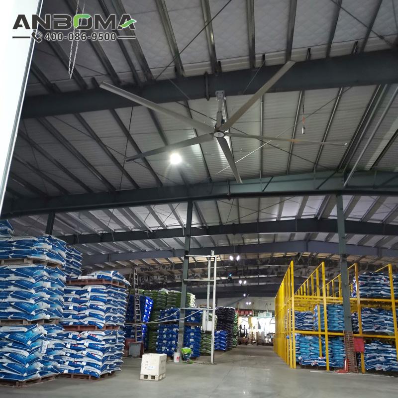 連云港節能工業大風扇 淮安大型工業吊扇廠家 倉儲物流廠房車間降溫除濕