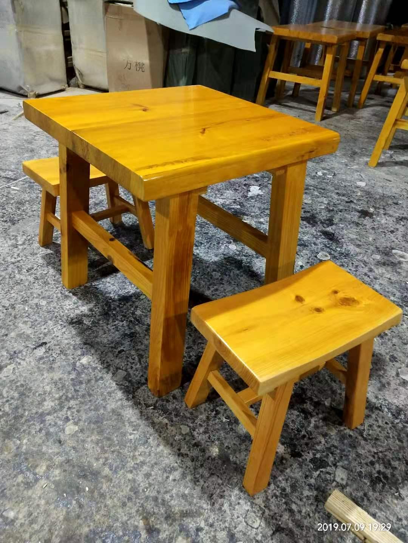 擼串燒烤桌定制松木燒烤桌子實木燒烤桌子