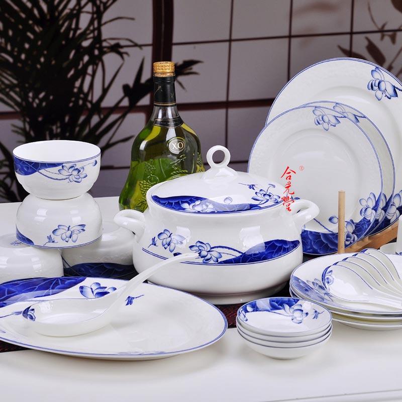 公司上市禮品陶瓷餐具定制,景德鎮答謝禮品套裝餐具生產廠家