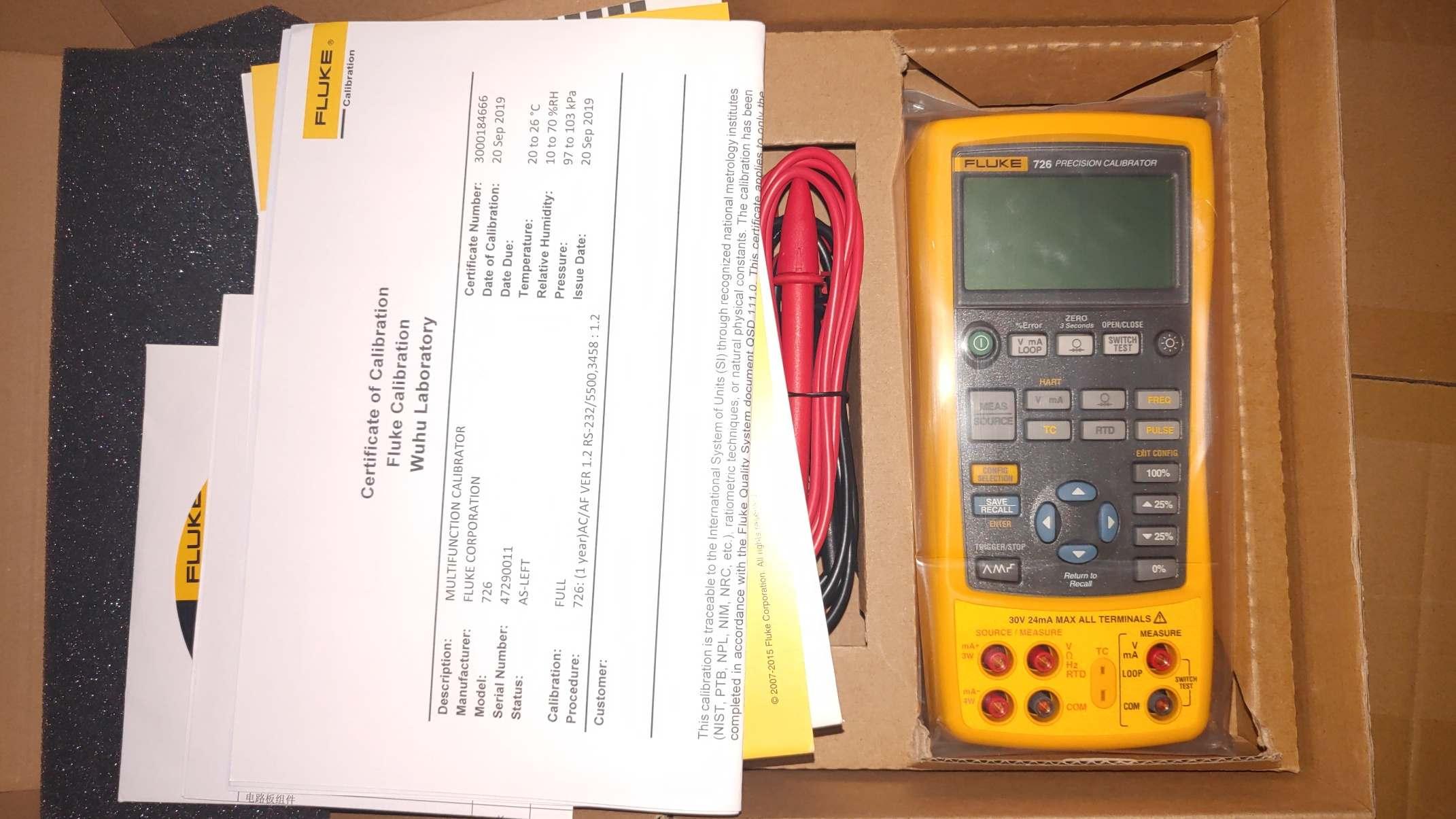 Fluke過程校驗儀F726CN福祿克