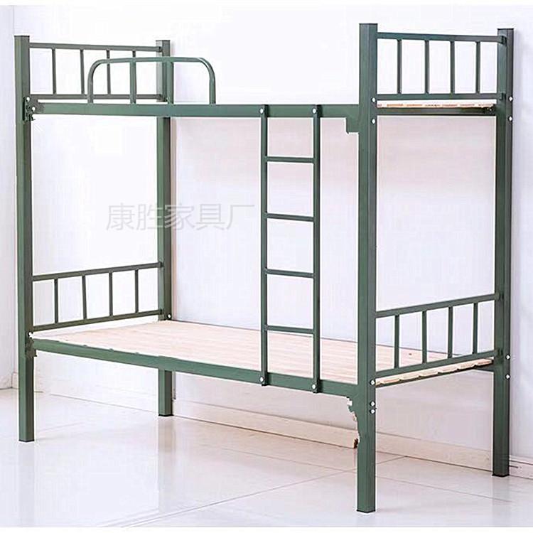 部队上下铺铁架床 东莞康胜铁床厂家 部队双层上下铺铁床