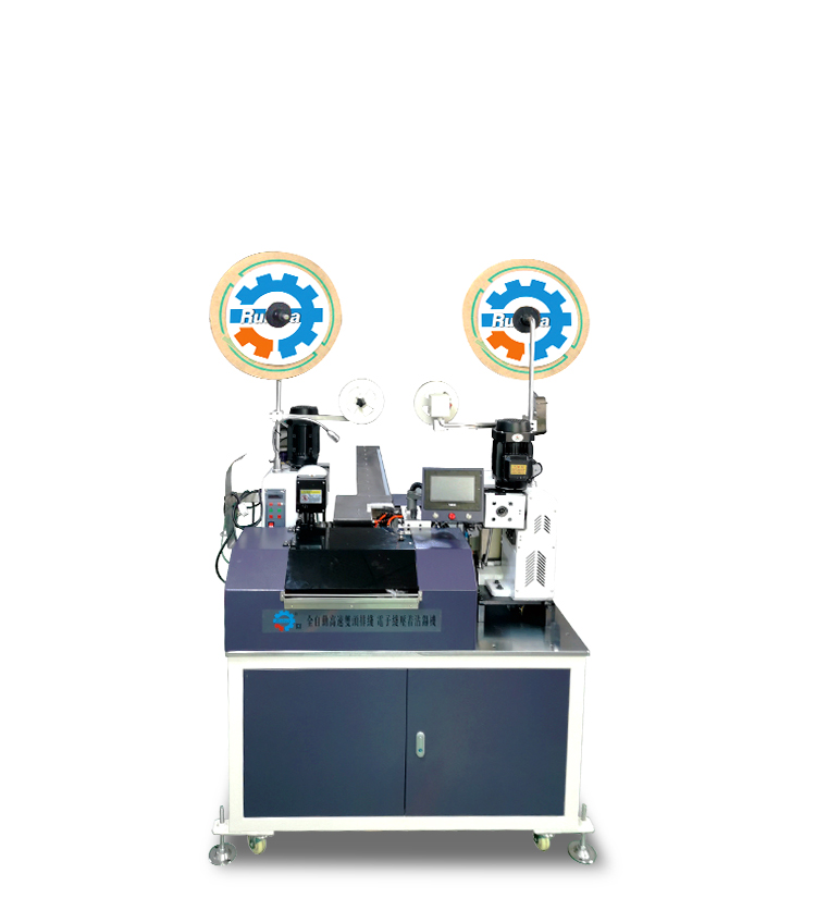 專業生產多功能雙頭排線電子線打端沾錫機  高速伺服全自動上錫機