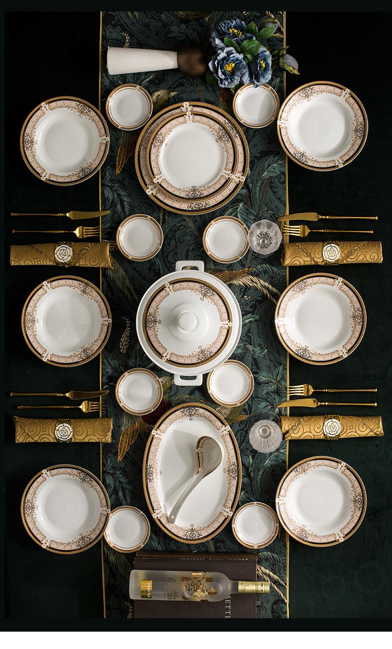 定做陶瓷餐具礼品印LOGO,景德镇陶瓷碗盘碟勺餐具套装定制厂家