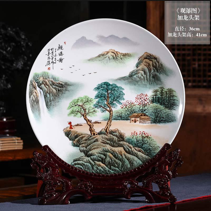 定制禮品陶瓷紀念盤印制圖案,景德鎮陶瓷裝飾品工藝賞盤定制廠家