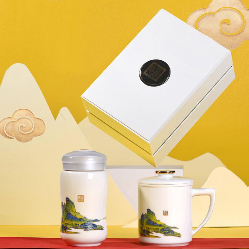 定制端午节客户礼品茶杯,景德镇陶瓷茶杯节日福利礼品定制厂家