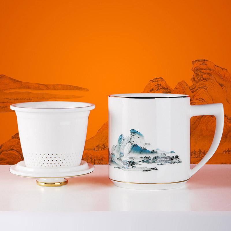定制開業促銷活動禮品陶瓷杯子,景德鎮開學季禮品杯子生產廠家