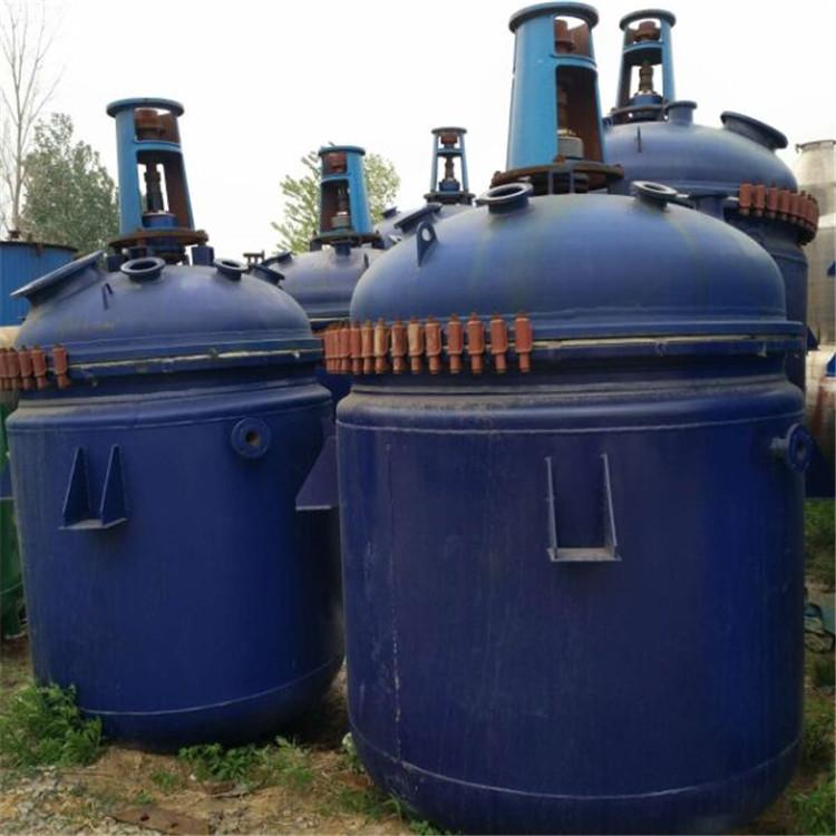 回收多种型号二手搪瓷反应釜