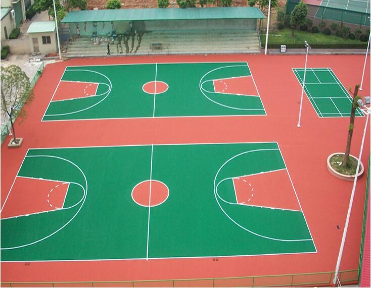 河池篮球场地胶材料 丙烯酸篮球场多少钱一平方
