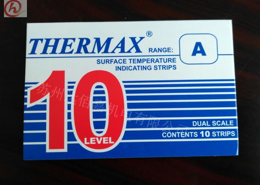 英国THERMAX测温纸/示温贴/温度标签/热敏试纸10格40-249度