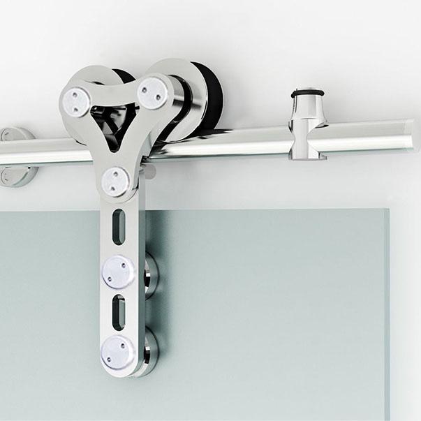 德国品质不锈钢吊轮茶馆室玻璃移门滑轮01A顺畅不锈钢滑轮