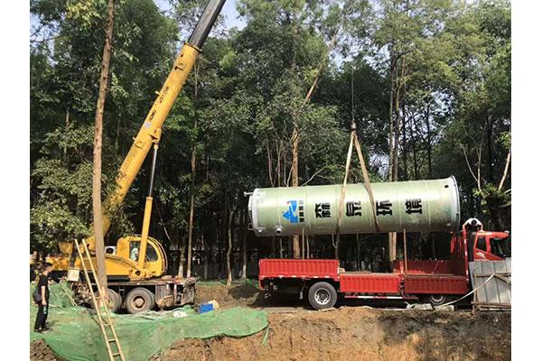 湖北一體化提升泵站,一體化預制泵站定制,安裝,設計