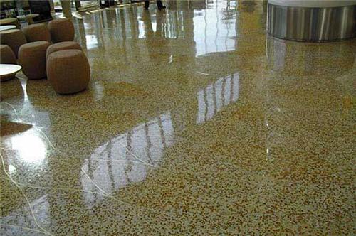 水磨石地面施工道路交通标志杆环氧地坪漆施工耐磨地坪漆