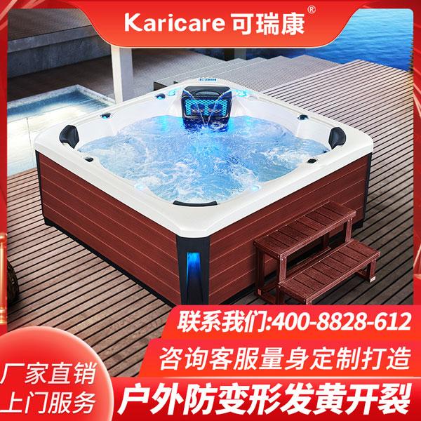 智能一体式亚克力豪华按摩浴缸户外冲浪恒温加热SPA泡池 工厂直销
