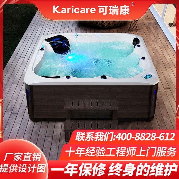 别墅户外冲浪SPA按摩浴缸泡池多功能亚克力恒温加热温泉浴池庭院