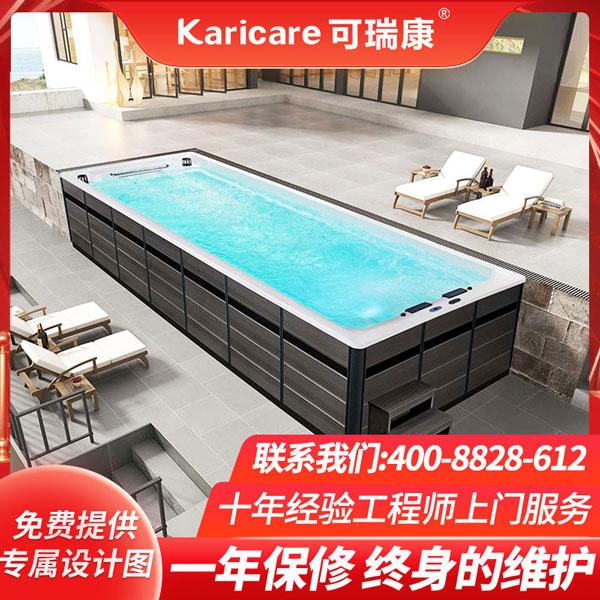 户外花园星游2注册用无边际游泳池endless pool恒温加热无尽泳池按摩冲浪