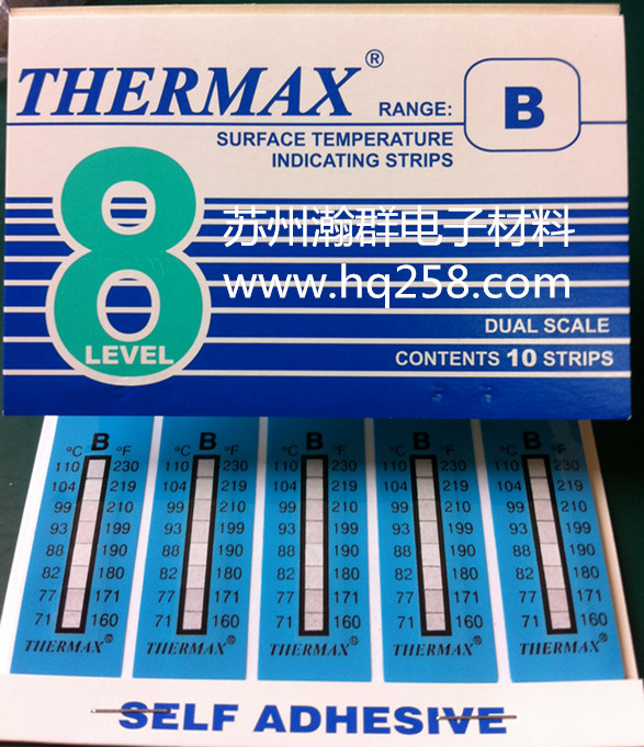 英国THERMAX 进口测温纸 8格A型测温纸(37℃-65℃)