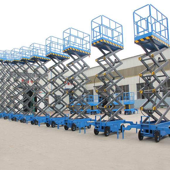 湖北出售移動剪叉升降機平臺6米300公斤廠家多少錢