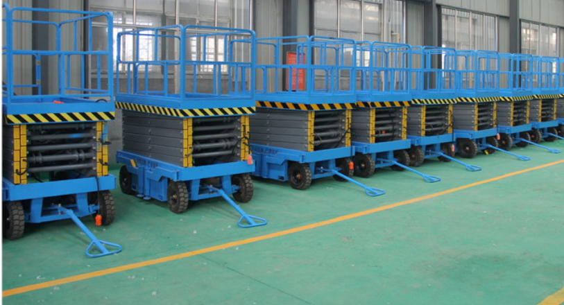 江蘇廠家出售6米8米移動剪叉式升降機高空作業平臺哪里賣的