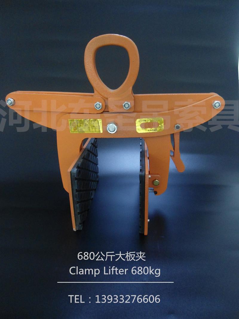 電動葫蘆配合石材吊鉗使用吊裝水泥件