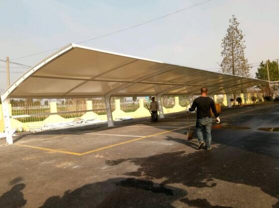 骏阳膜结构遮阳棚,售货停膜结构遮阳棚