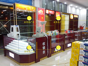 南京糖烟酒展柜制作