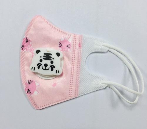 3D儿童口罩老虎印花阀一次性民用口罩幼儿园小学生防护口罩
