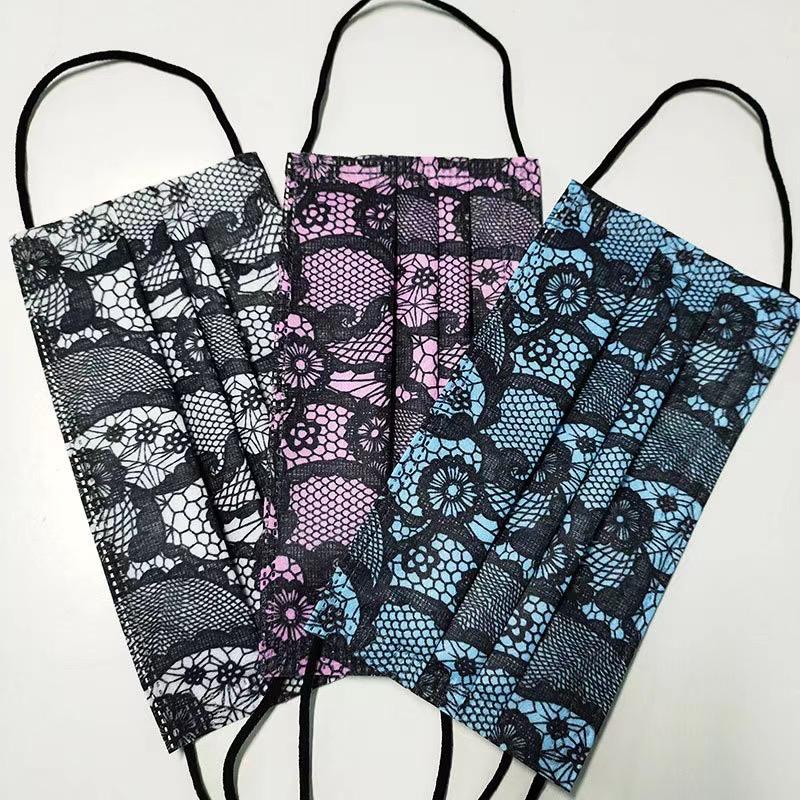 彩色蕾丝花纹 时尚特色蕾丝水刺无纺布