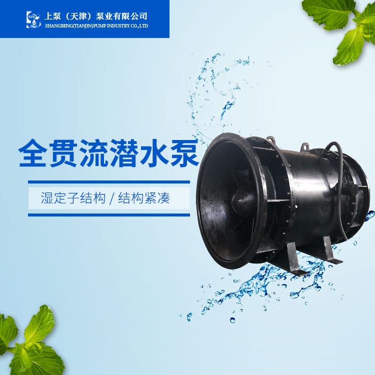 广州贯流泵制造商/qgwz全贯流潜水泵