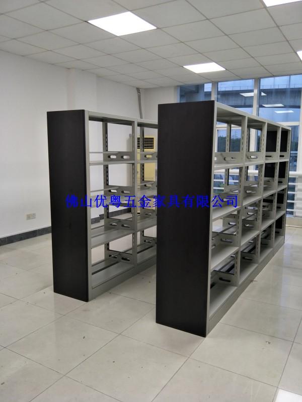 广东钢制书柜钢制书架密集架定做图书馆书架厂家