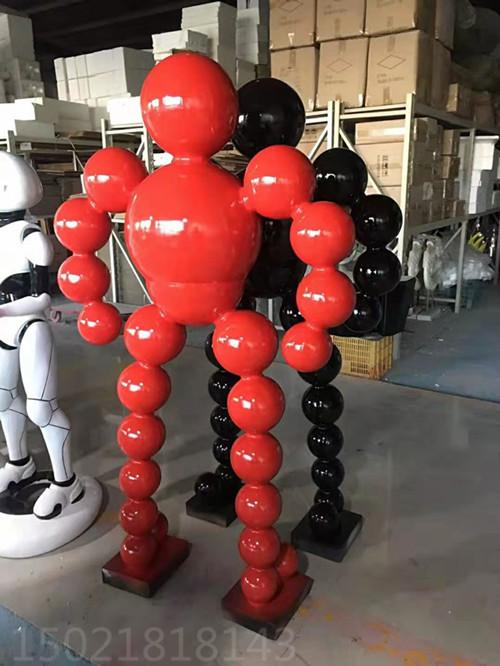 贵州现代不锈钢抽象人物雕塑 创意运动健将工艺品摆件