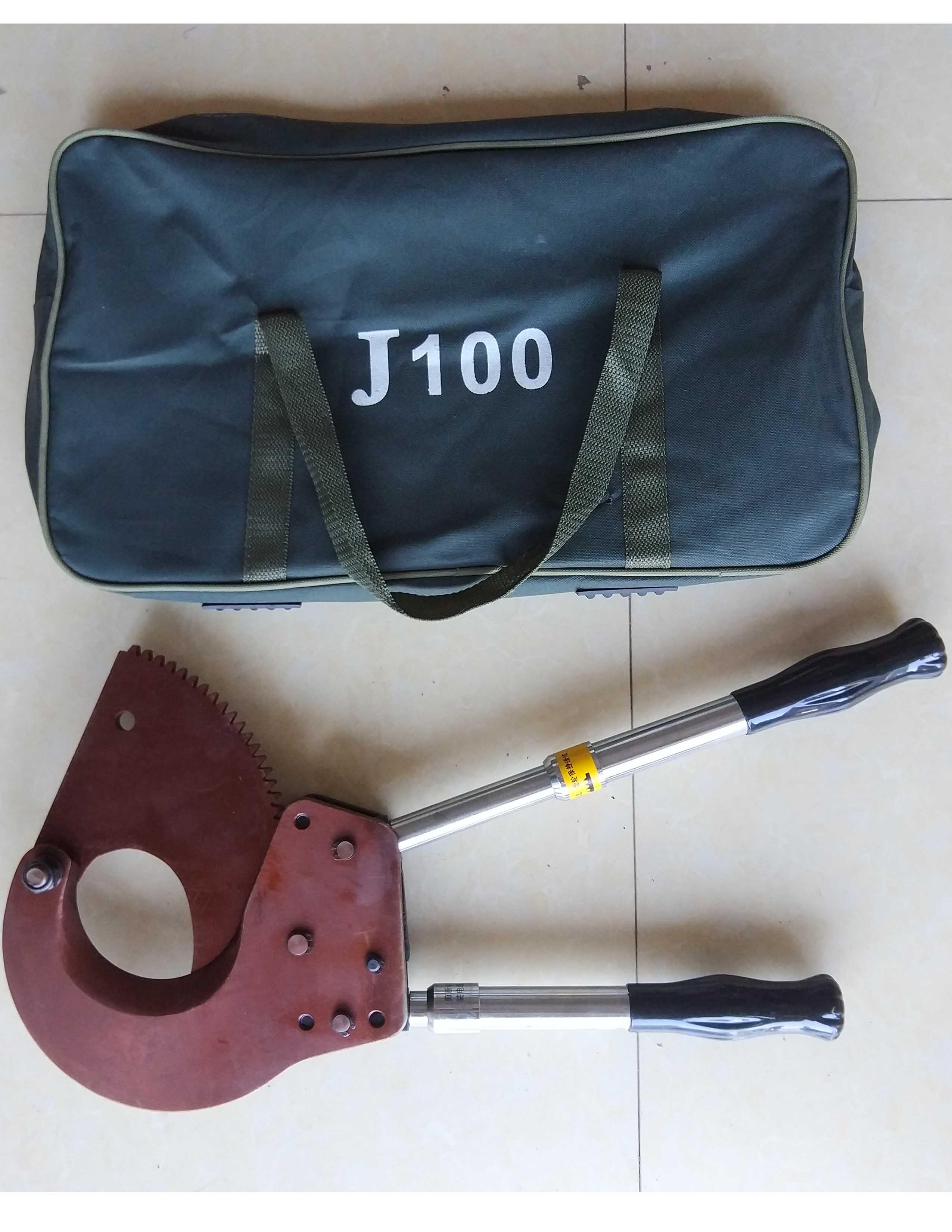 棘輪電纜剪斷線鉗齒輪線纜剪電線剪電工銅鋁線電纜剪刀J-100