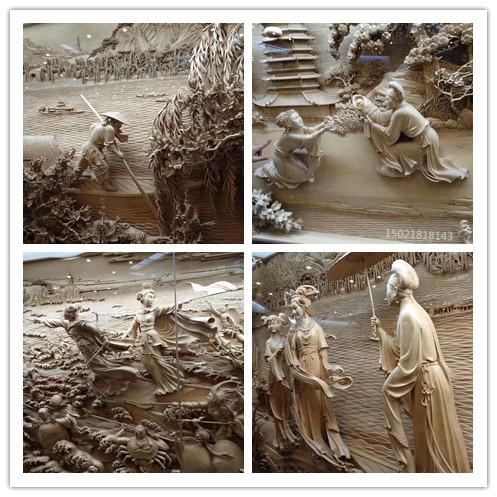 扬州室内景观立体人物浮雕 旅游区古风景雕塑设计制作