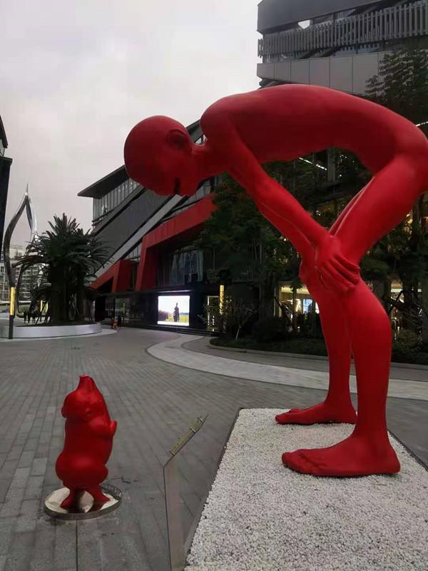 辽宁供应不锈钢人物雕塑 人文景观烤漆雕塑小品