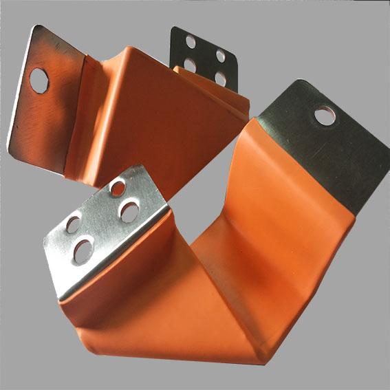 铜箔软连接厂家 PVC绝缘层加工 折弯铜箔软连接定制