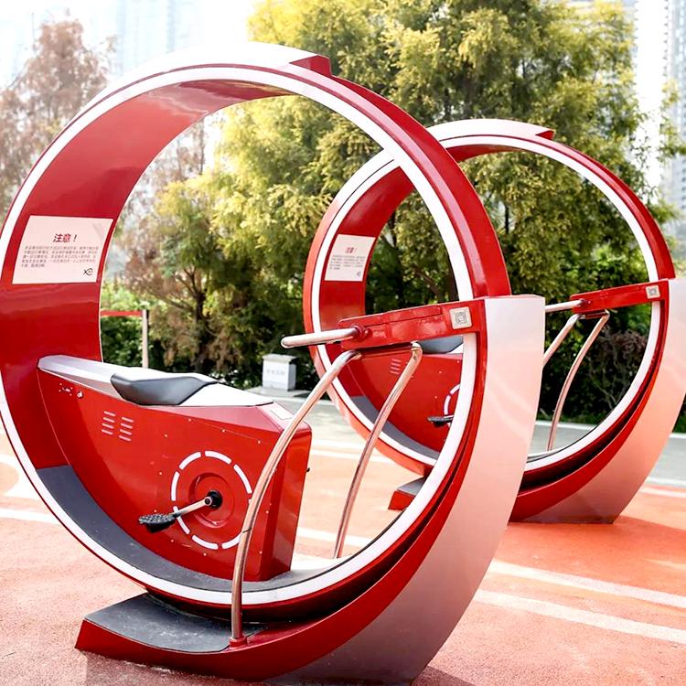 偃師廣場可安裝的自行車噴泉游樂設備 山東三喜