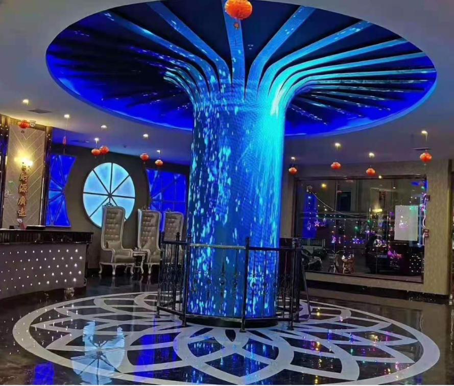 青島LED網紅互動地磚屏/拼接屏/廣告屏廠家