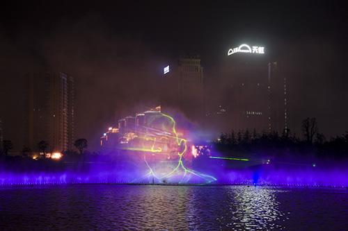 湖南噴泉長沙噴泉湘潭滴水湖水幕激光電影